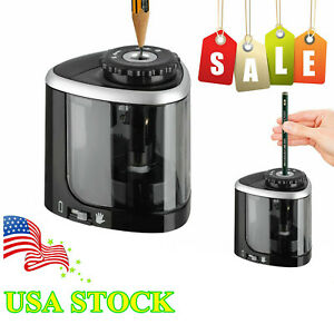 Electric Automatic Pencil Sharpener Battery Operated Home School Student Office