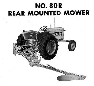 Allis Chalmers Ca No 80r Power Snap Coupling Sickle Mower Owner s Parts Manual