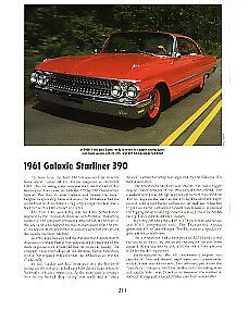 1961 Ford Galaxie Starliner 390 Article Must See