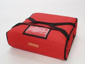 Pizza Delivery Bags Thick Insulated holds 3 Or 4 16 Or 18 Pizzas Red