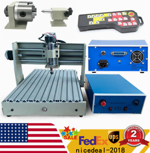 Cnc Router Engraver Engraving Drilling Machine Usb 4 Axis 3040 3d W Controller