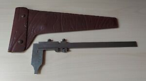 Vintage Helios Vernier Caliper 12 Inch With Leather Case Made In Germany