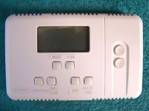 Carrier Bryant Payne Tstatccsac01 5 2 Day Programable Thermostat white
