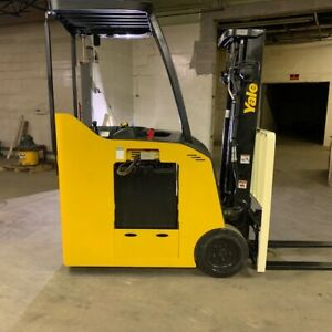 2014 Yale Esc040acn 4000lbs Used Forklift W triple Mast Sideshift Great Battery