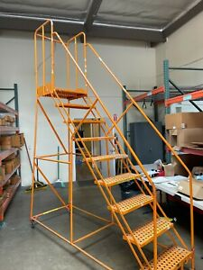 Rolling Warehouse Ladder 9 step