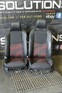2010 2013 Mazdaspeed3 Front Seats Bucket Seat Black Red Cloth Leather Ms3