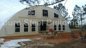 Durospan Steel 40x32x20 Metal Arch Shed Diy Home Building Kits Open Ends Direct