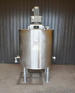 400 Gallon Jacketed Tank With Scrape Agitation 316l Stainless Steel