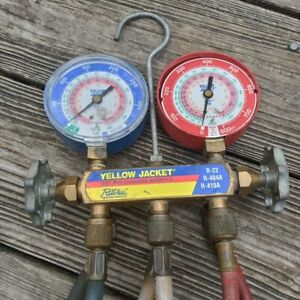 Ritchie Yellow Jacket Test Charging Manifold R 22 R 404a R 410a 4 Hoses