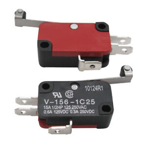 5x Micro Limit Switch V 156 1c25 Long Hinge Roller Momentary Spdt Snap Action Cn