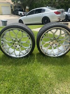 22 Inch Rims And Tires Staggered 5x120