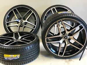 21 Staggered Wheels Rims Fit Mercedes Benz Amg S Class S550 06 2020 Ml 5x112