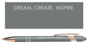 Ballpoint Pens With Inspirational Quotes Black Ink 1 0 Stylus 3 Design Pens
