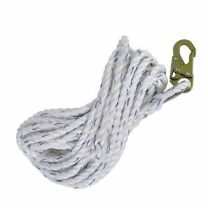 Fall Protection Safety Lifeline Rope Grab 25 Ft Vertical Cable