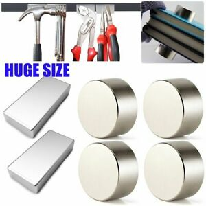 Huge Neodymium Block Round Magnets Super Strong Rare Earth N52 40 20 50 25 10mm