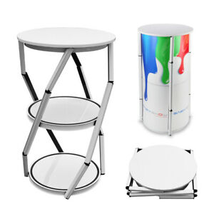 Portable Folded 41 7 Round Aluminum Spiral Tower Structure Counter Display Box