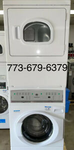 Speed Queen Commercial Stack Washer Electric Dryer Opl