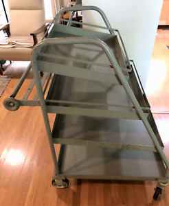 Industrial Jarvis And Jarvis Rolling Cart 4 Shelf United Service Equip Co Rare
