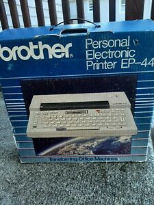 Vtg Brother Ep44 Portable Electronic Typewriter Printer Word Processor New