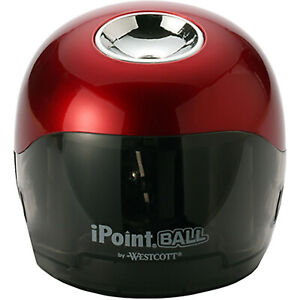 Westcott Ipoint Ball Battery Pencil Sharpener Red black 1 count