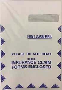 100 pack Medical Arts Press Security Tinted Claim Business Envelopes 9 X 13
