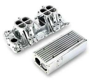 Weiand Stealth Ram Intake Manifold Polished For Chevy Small Block V8