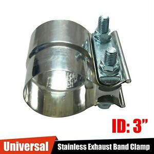 3 Stainless Steel Exhaust Band Clamp Step Clamps Fit Catback Muffler Downpipe