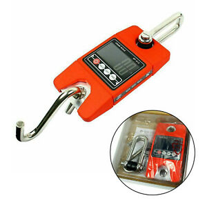 Digital Hanging Scale 300 Kg 660 Lbs Industrial Crane Scale Red Cl