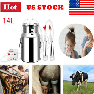 14l Rechargeable Electric Milking Machine Vacuum Pump Milker For Cow Sheep Goat