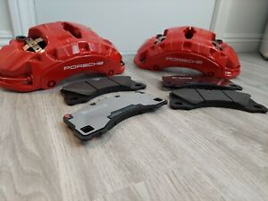 New Porsche Panamera Cayenne Macan Front Brembo Brake Calipers And Pads