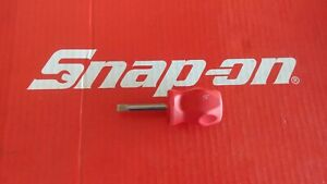 Snap On Tools Stubby Flat Tip Hard Red Handle Screwdriver Shd1 Ships Free