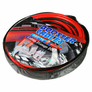 Heavy Duty Jumper Booster Cables Commercial Grade Battery 2 Gauge 20ft 600 Amp