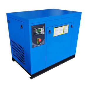 10hp Rotary Screw Air Compressor 39 Cfm 125 Psi 3 phase Commercial Free Shipping