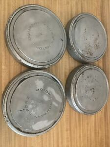 Ford Hubcap Wheel Cover Center Hub Cap 10 1 2 Dog Dish Poverty Oem Silver Set 4