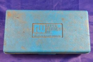 Roper Whitney Co Rw No 5 Jr Hand Punch Set With Case And Dies Incomplete