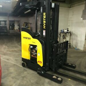 2015 Hyster N45zr2 4500lbs Used Forklift W triple Mast 2018 Good Battery