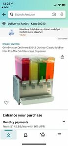 Crathco D35 3 Refrigerated Beverage Dispenser With Triple 5 Gallon Bowls