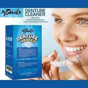 90x Mysmile Denture Cleaner Tablets Cleaning Mouth Retainer Brace Anti bacterial