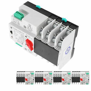 Automatic Transfer Switch Din Rail Mounted 3 phase 4 wire Uninterruptible Power