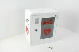 Aed Cabinet Fits All Brands Cardiac Science Zoll Defibtech Physio control White