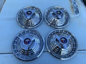 1963 Ford Galaxie 500 Xl Spinner 14 Hubcaps Set Of 4 1961 1962 1964