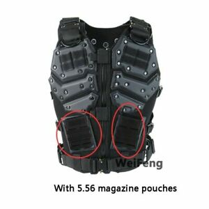 Tactical Vest Plate Molle Carrier Paintball Military Airsoft With Magazine Pouch $126.04