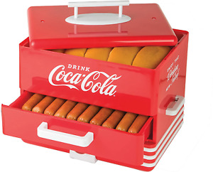 Large Coca cola Diner style Steamer 24 Hot Dogs And 12 Buns Coke Collectible