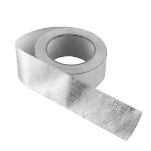 Aluminium Tape Strong Adhesive Heat Proof Exhaust Pipes Vent Ducts 48mm X 25m Cn