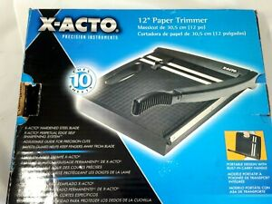 X acto 12 Inch Heavy Duty School Paper Trimmer Cutter 10 Sheet Capacity Black