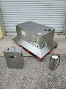 Lincoln Impinger 1162 Electric Conveyor Pizza Ovens W Giles Ventless Hood Povh