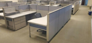 Herman Miller Cubicles With File Cabinets Lot Of 22 Cubes Pristine
