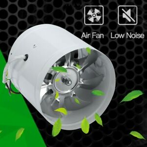 6 Inch Inline Duct Booster Fan Ducting Vent Fan Ventilation Exhaust Air Blower