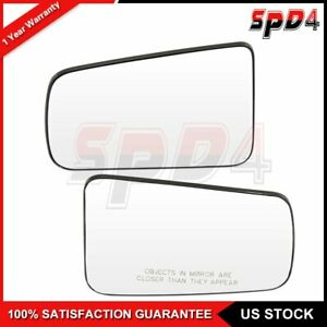 For 2008 2011 Ford Focus Driver Side Chrome Mirrors Flat Convex Mirrors Glass