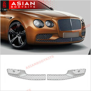 Chrome Bumper Lower Mesh Grille For Bentley Continental Flying Spur 2013 2019